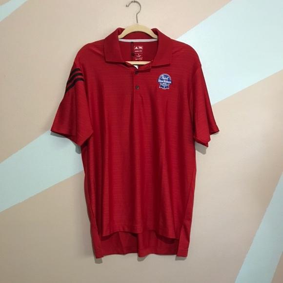 54a55ece adidas Shirts | Nwt Golf Shirt Red Pabst Blue Ribbon Beer | Poshmark